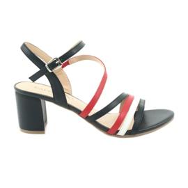 Caprice sandały buty damskie 28304 białe czerwone granatowe