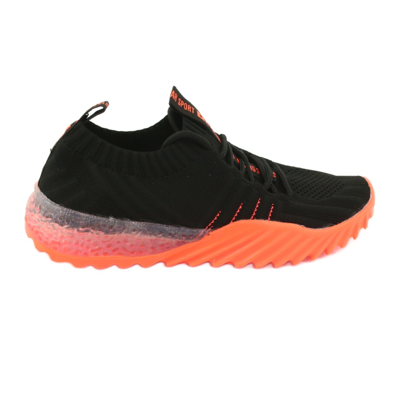 Sprandi Big Star buty sportowe wsuwane/wiązane FF274342 bezbarwne czarne pomarańczowe