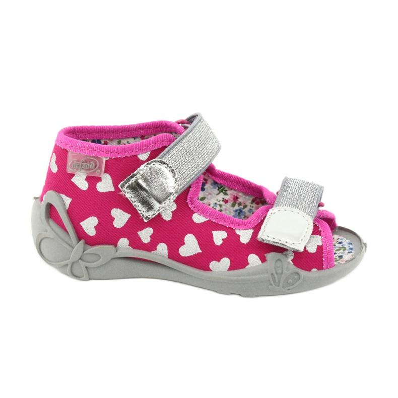 Befado obuwie dziecięce 242P104 różowe szare