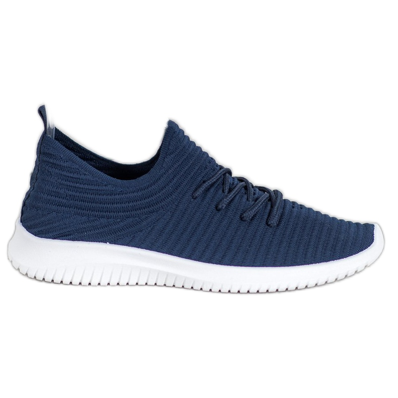 SHELOVET Wsuwane Buty Tekstylne niebieskie