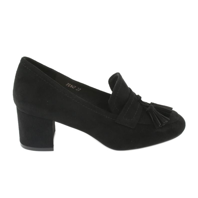 Buty na słupku Sergio Leone PB147 czarne