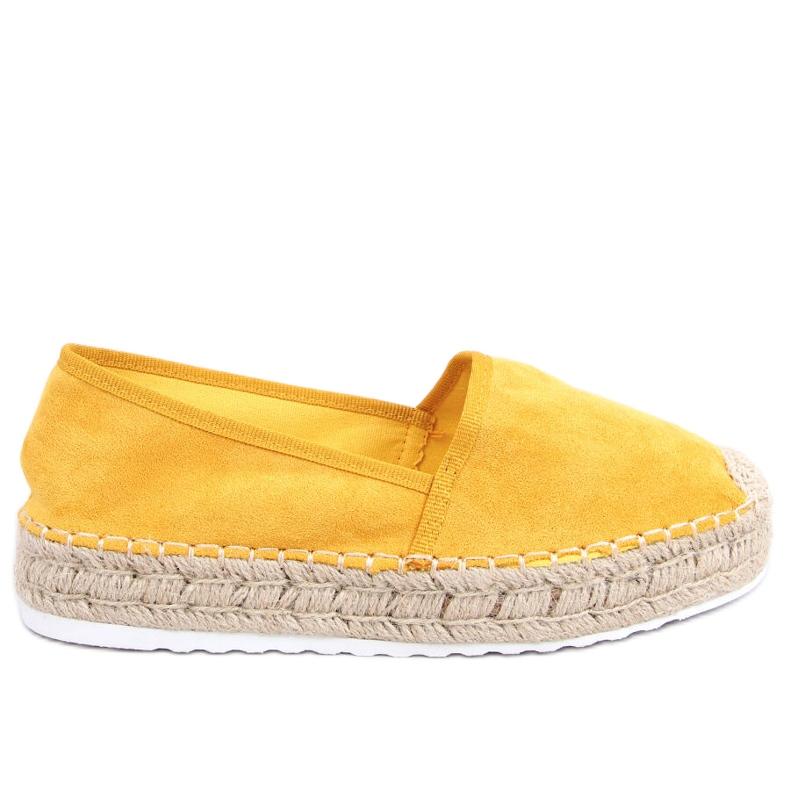 Espadryle damskie miodowe JH91P Yellow żółte