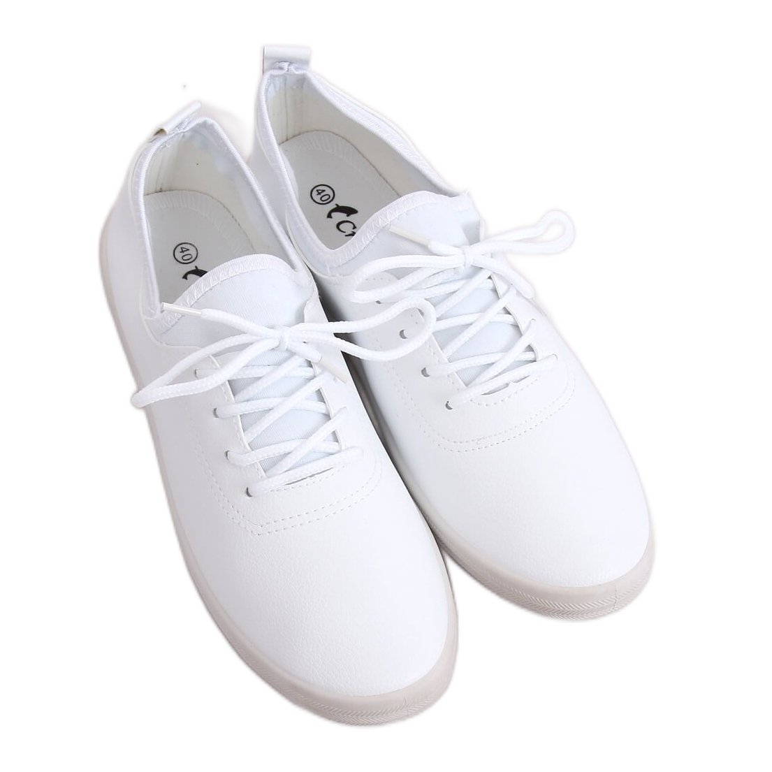 Tenisówki damskie białe W9782 White