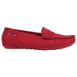 Goodin Klasyczne Tekstylne Mokasyny czerwone