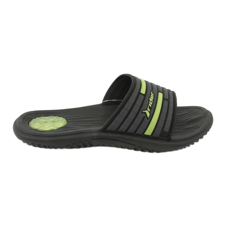 Klapki męskie basenowe Rider 82735 black/green