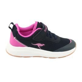KangaROOS buty sportowe na rzepy 18507 navy/pink