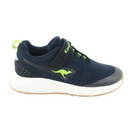 KangaROOS buty sportowe na rzepy 18508 navy/lime granatowe zielone