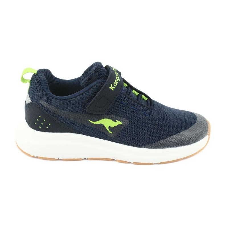 KangaROOS buty sportowe na rzepy 18508 navy/lime