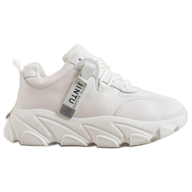 Bella Paris Sznurowane Białe Sneakersy