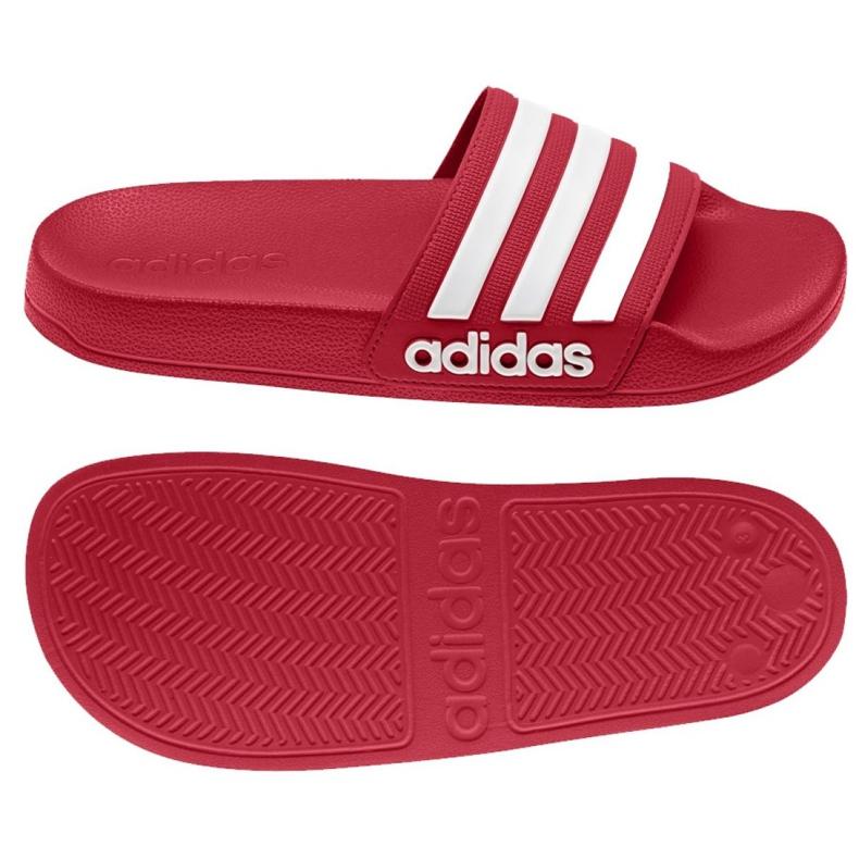 Klapki adidas Adilette Shower K EG1895 czerwone