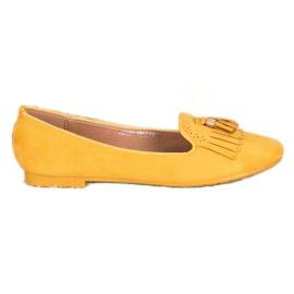 Fama Zamszowe Lordsy Z Frędzlami żółte