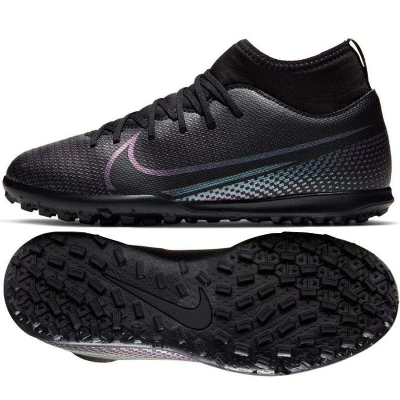 Buty piłkarskie Nike Mercurial Superfly 7 Club Tf Jr AT8156 010 czarny czarne