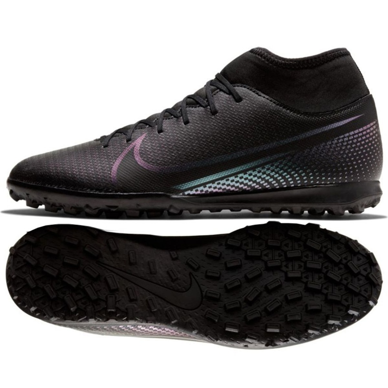 Buty piłkarskie Nike Mercurial Superfly 7 Club Tf M AT7980-010 czarne czarne