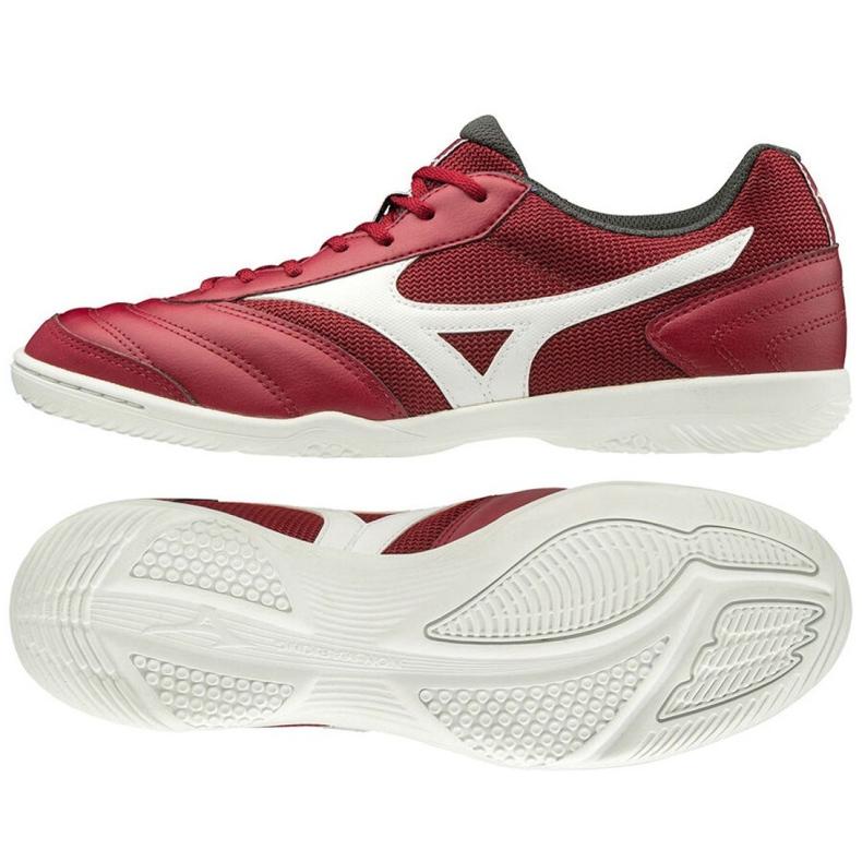Buty halowe Mizuno Morelia Sala Club M Q1GA200350 czerwone wielokolorowe