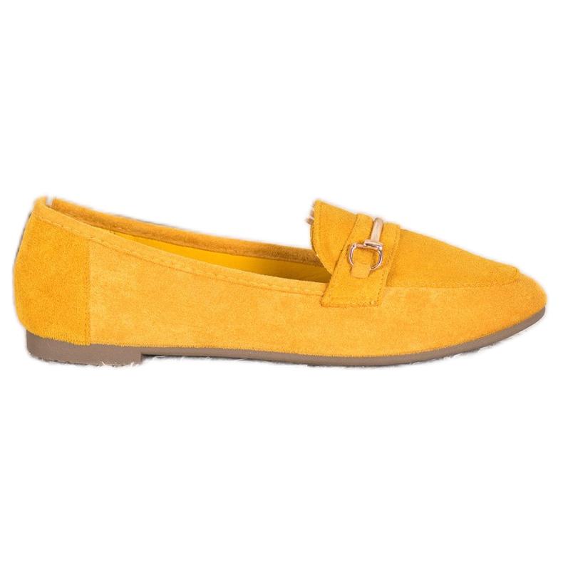 Bestelle Stylowe Mokasyny Z Ozdobą żółte