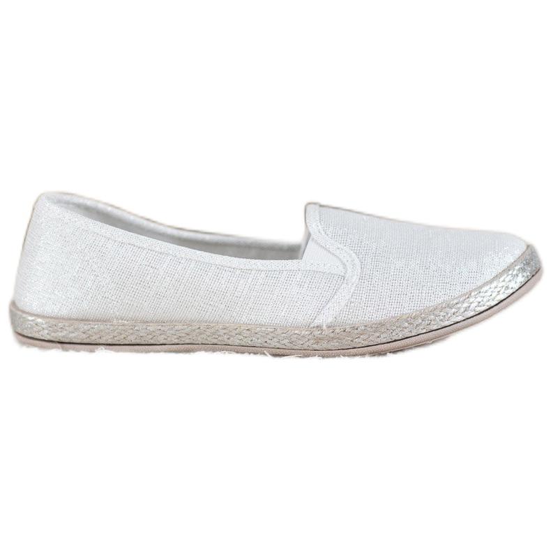 SHELOVET Wygodne Buty Slip On białe
