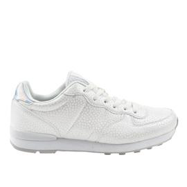 Białe męskie obuwie sportowe 5535-1