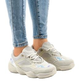 Beżowe buty sportowe MS522 8 brązowe