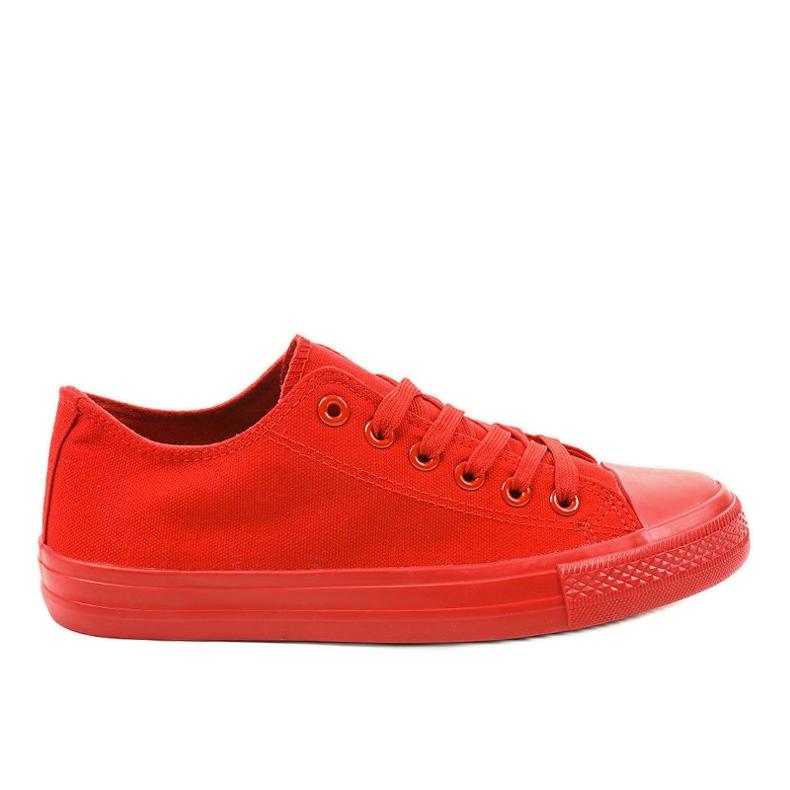 Czerwone klasyczne trampki męskie MC1-A5
