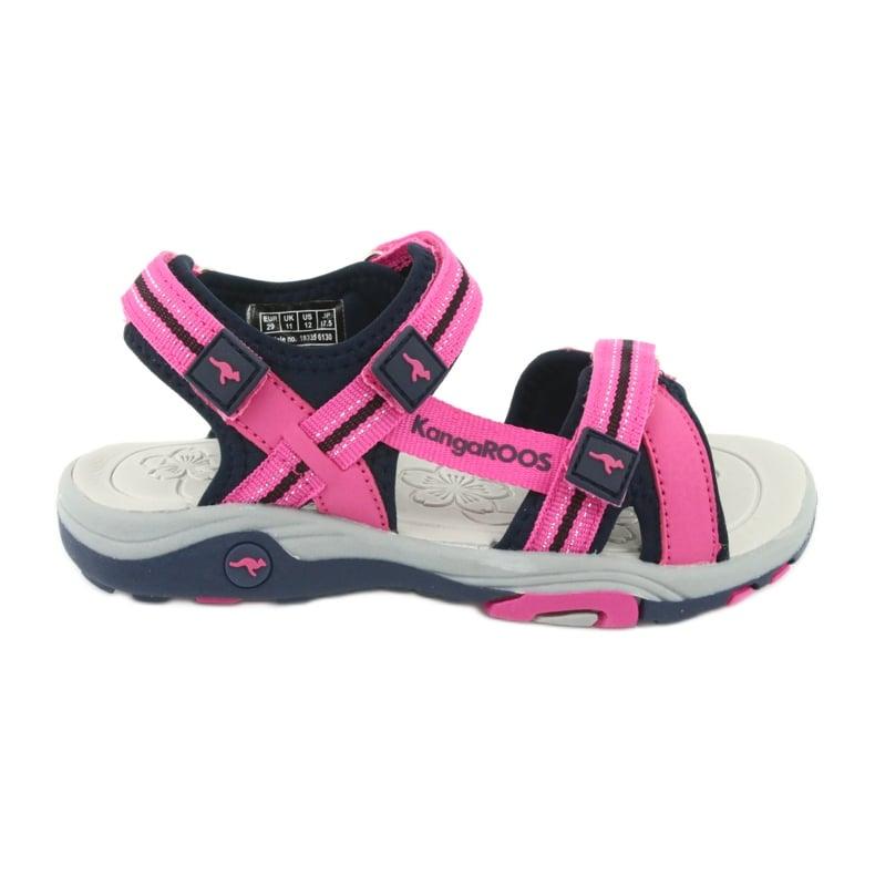 Sandałki piankowa wkładka KangaRoos 18335 granatowe różowe szare