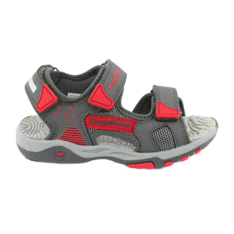 Sandałki wkładka piankowa KangaRoos 18337 czerwone szare