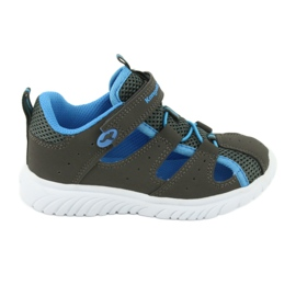 Sandałki z piętą na rzepy KangaRoos 02058 szary niebieskie szare