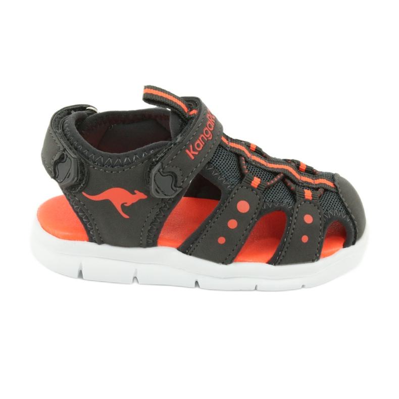 Sandałki sportowe Kangaroos 02035 pomarańczowe szare
