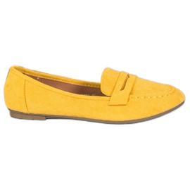 Fama Klasyczne Mokasyny żółte