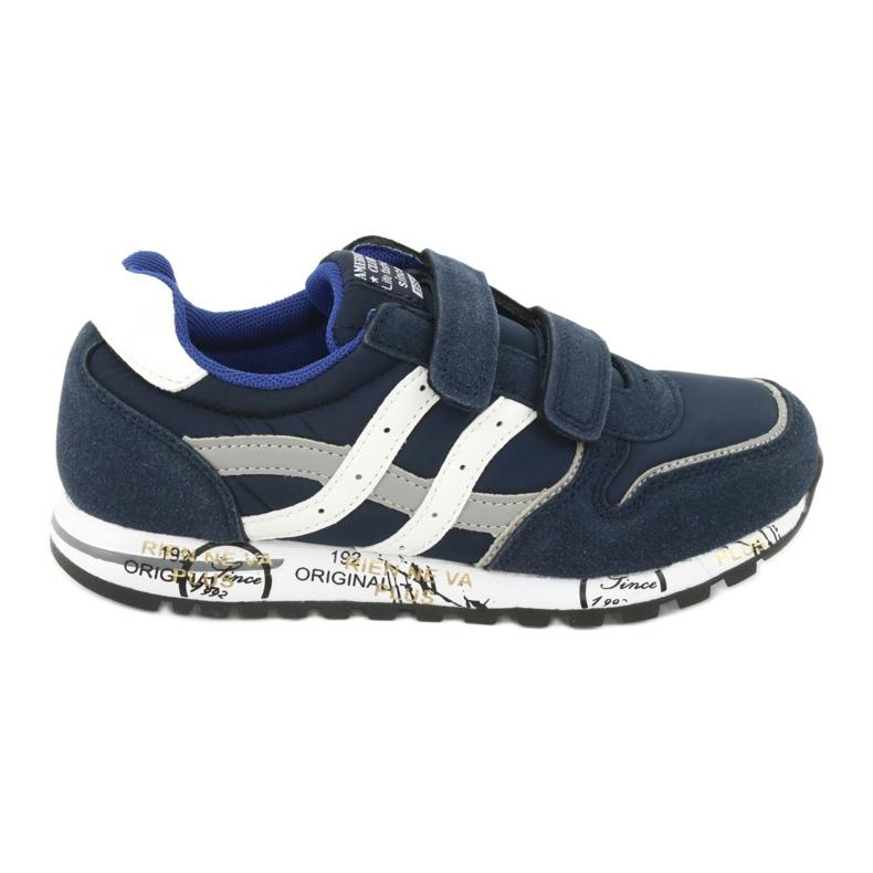 Granatowe Buty Sportowe chłopięce American Club ES02