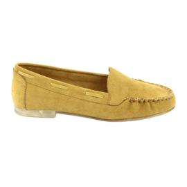Mokasyny zamszowe damskie Sergio Leone 722 żółte