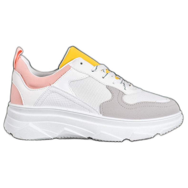 SHELOVET Casualowe Sneakersy Z Eko Skóry