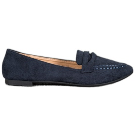 Best Shoes Zamszowe Mokasyny W Szpic