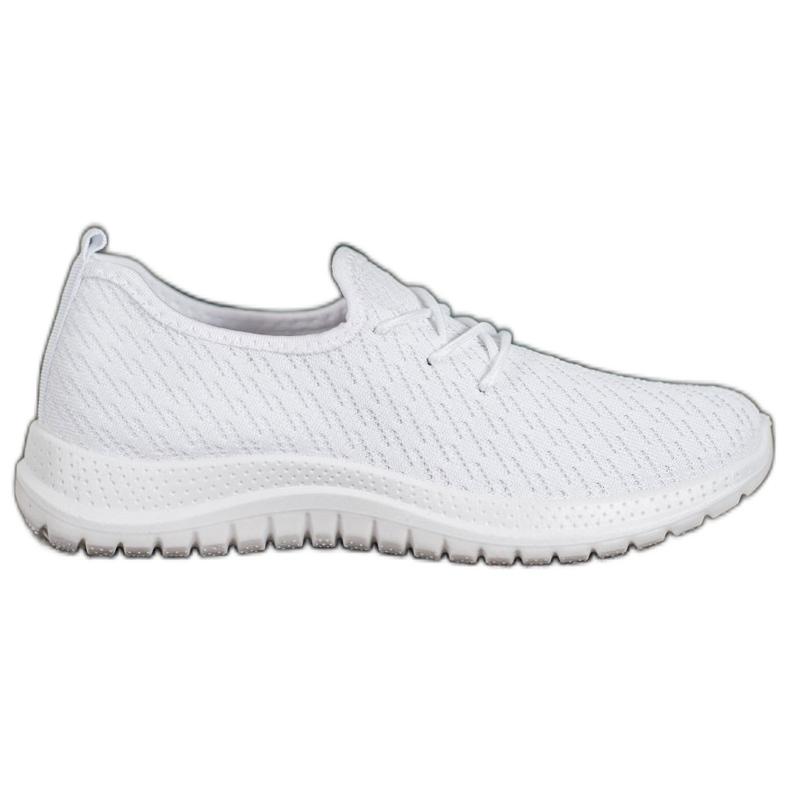 SHELOVET Białe Ażurkowe Buty Sportowe