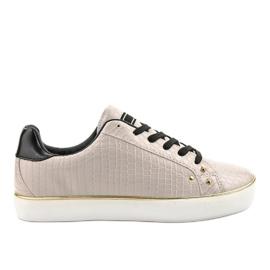 Różowe stylowe trampki damskie 6173-Y