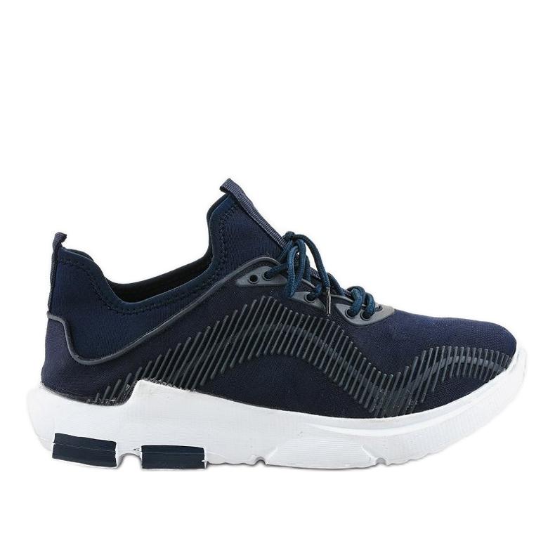 Granatowe obuwie sportowe męskie LF21-2