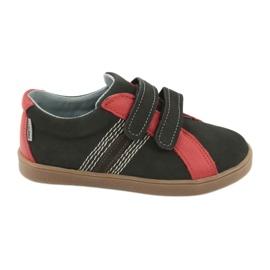 Buty chłopięce na rzepy Mazurek 1235 czarne czerwone