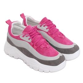 Buty sportowe wielokolorowe 902-3 Grey różowe