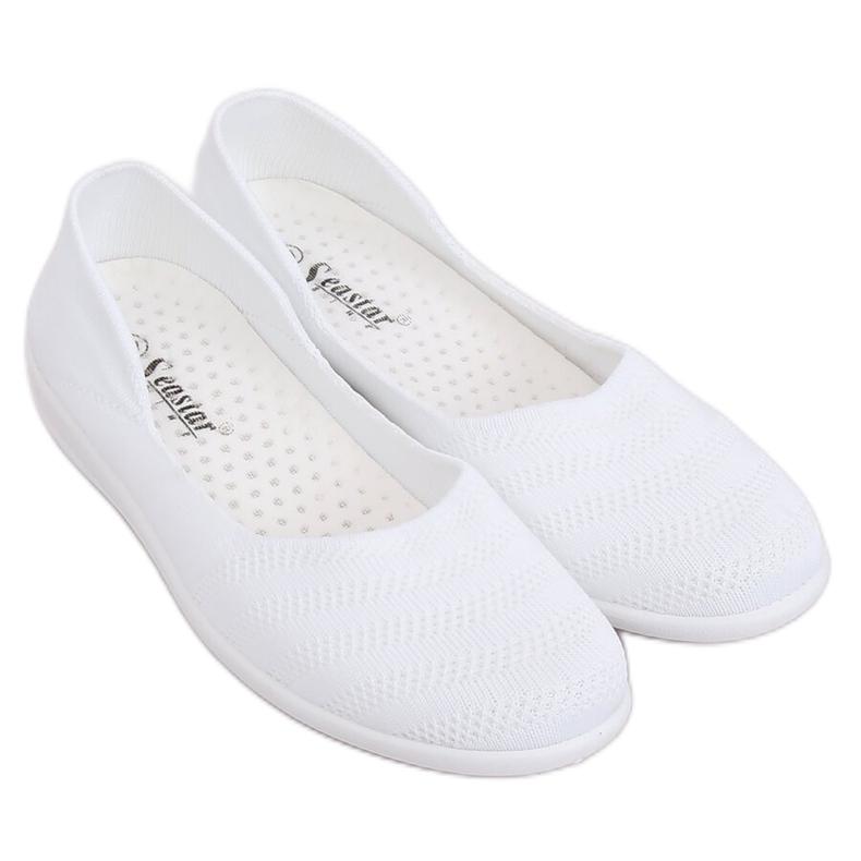 Baleriny siateczkowe białe IC03 White