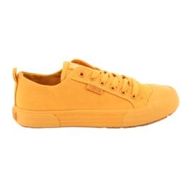 Trampki wiązane żółte Big Star FF274A086