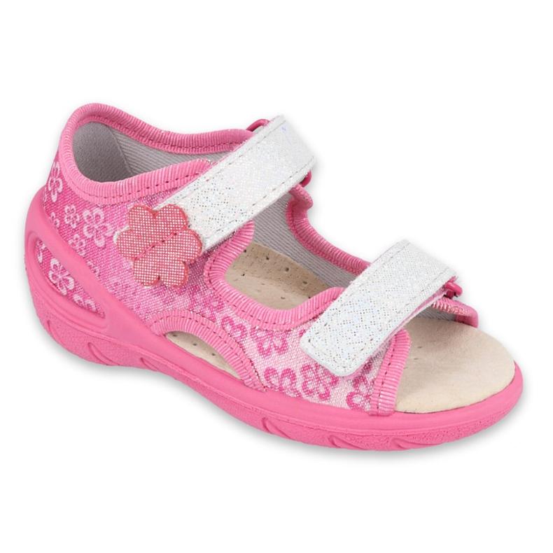 Befado obuwie dziecięce pu 065P138 różowe