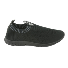 Buty sportowe wsuwane czarne Mckey DTN842 szare