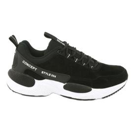 Buty sportowe zamszowe McKey MSP1464 czarne