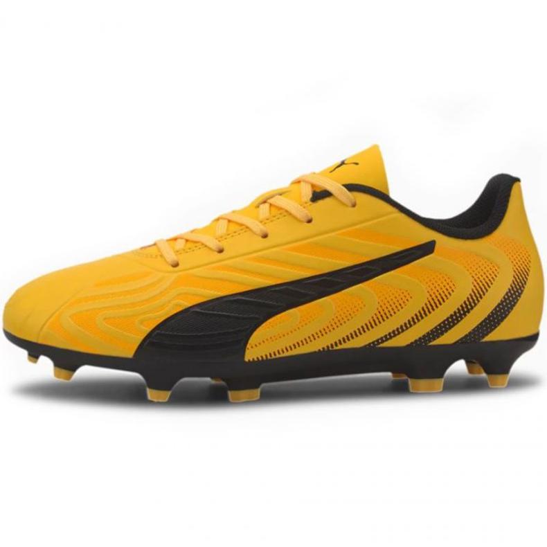 Buty piłkarskie Puma One 20.4 Fg Ag Jr 105840 01 żółte