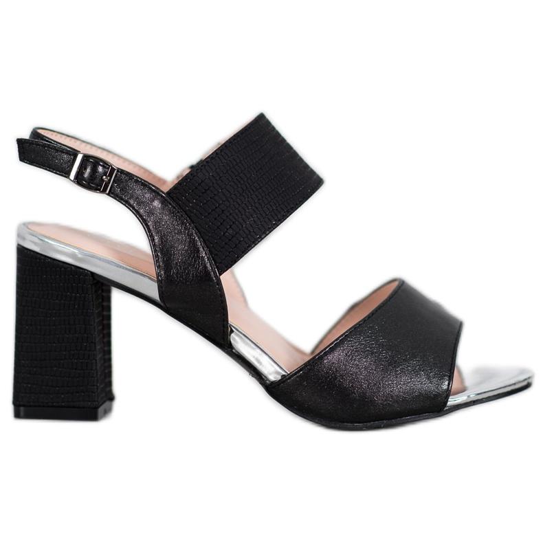 Sandały Na Słupku VINCEZA czarne