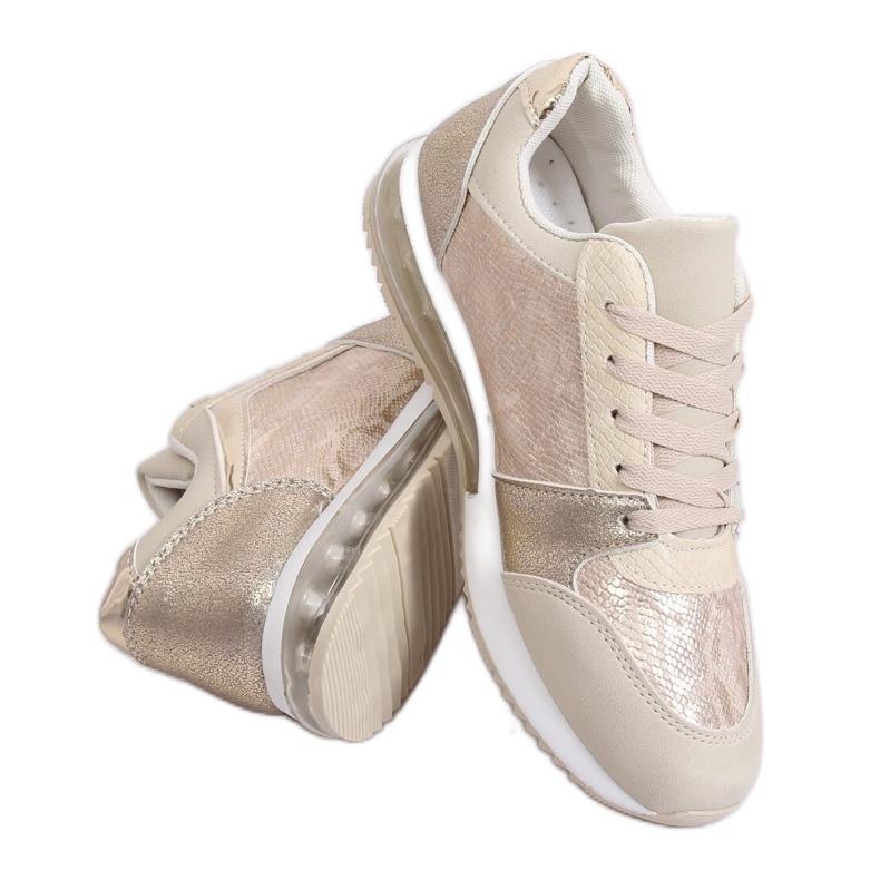 Buty sportowe damskie złote BL206 Gold złoty