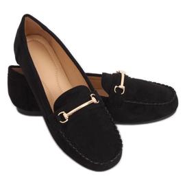 Mokasyny damskie czarne 99-01A Black