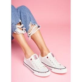 Trampki Damskie Cross Jeans Białe Siateczka FF2R4016C