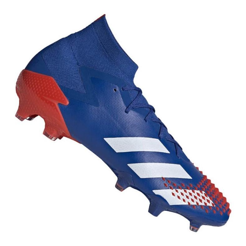 Buty piłkarskie adidas Predator 20.1 Fg M EG1600 niebieskie wielokolorowe