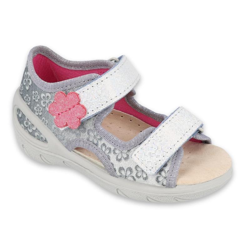 Befado obuwie dziecięce pu 065P139 szare