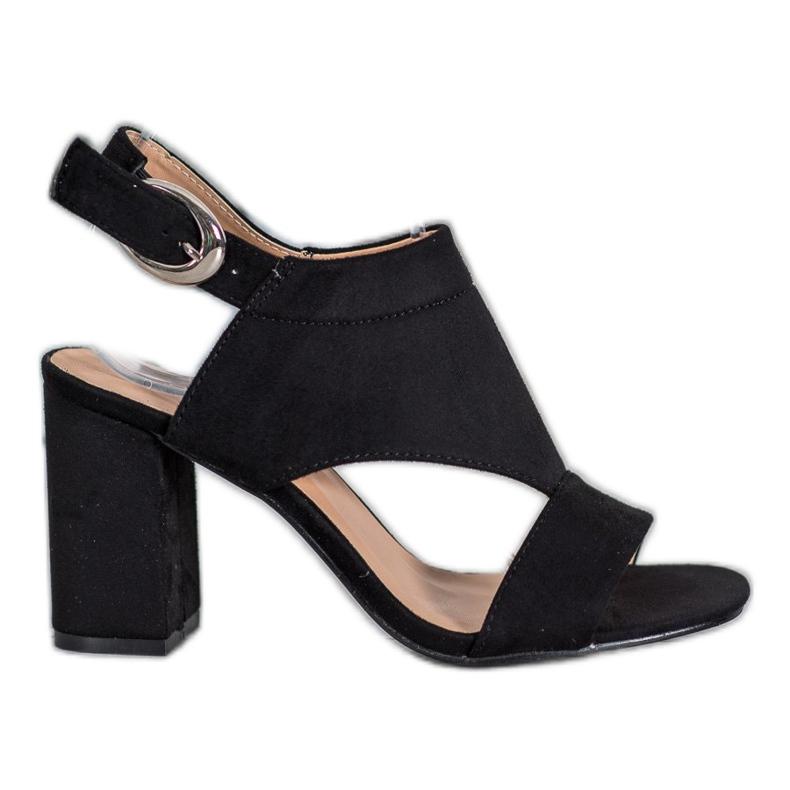 Stylowe Buty Na Obcasie VINCEZA czarne
